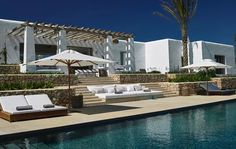 Spanien - Balearen - Ibiza - Sant Miguel - Can Trull - großzügige Terrasse mit Pool
