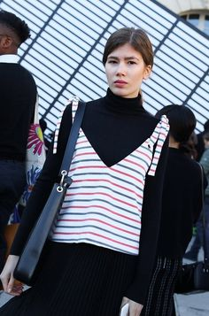 On the street at Paris Fashion Week. Photographed by Phil Oh.