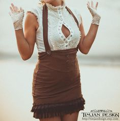 ORGANIC ALINE SKIRT  SaLe  Steampunk Burlesque door TimjanDesign, kr400.00