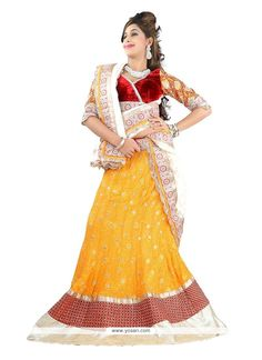Yellow Embroidered Work Designer Lehenga Choli Model: YOLEN2684