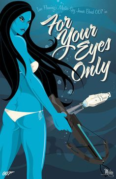 007 For Your Eyes Only Action Movie Illustration