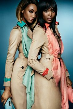blissfully-chic: Jourdan Dunn & Naomi Campbell for Burberry, Spring/Summer 2015 Ad Campaign Photographed by: Mario Testino
