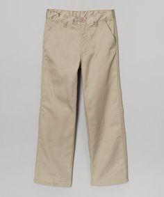 Look at this #zulilyfind! Khaki Pleated Pants - Boys by Beverly Hills Polo Club #zulilyfinds $10.99, regular 24.00
