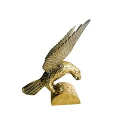 Solid Brass Eagle Figure with Wings Spread.  by GatewayHeirlooms