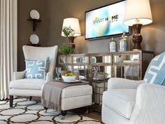 hgtv master bedroom, bedroom pictur, master bedroom staging, lounge chairs, master bedrooms