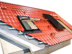 metal roofing buying guide This diagram shows how a metal roof is built, including battens used for attachment and installation of a skylight and solar panel.