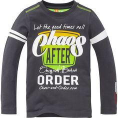 Chaos and Order shirt (AT125-W15/bart/d.grey) | Kixx Online kinderkleding & babykleding