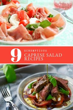 I'm quite sure that I don't need to introduce the caprese salad. This classic must be one of the world's most famous Italian mozzarella salads! When's the last time you had or prepared a caprese salad? Easy Salad Recipes, Easy Salads, Side Dish Recipes, New Recipes, Cooking Recipes, Favorite Recipes, Healthy Recipes, Mozzarella Salat, Caprese Salad Recipe
