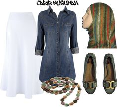 """Casual Cool"" by jamericanmuslimah on Polyvore"