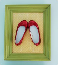 cute little girls room idea  red yellow and teal  a slight dorothy feel  red glitter shoes in a frame  word art: where troubles melt like lemon drops  maybe the rainbow printable from Rebecca Cooper  little blue birds  red and white striped awning like in MADE...