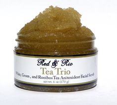 Triple Tea Anti-Aging Facial Scrub #tea #soap #skin #skincare #beauty #new #spa #organic #natural
