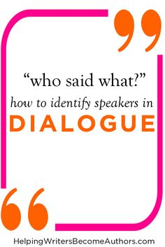 Learn the pitfalls of not properly identifying your dialogue speakers--and how to easily correct the problem.