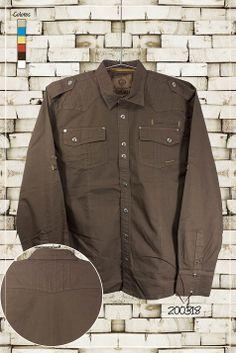 Ropa-de-moda-camisa-manga-larga-color-café-ref-200318