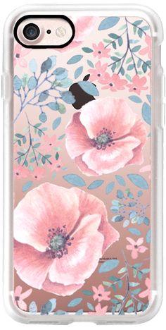 Casetify iPhone 7 Classic Grip Case - Pink Florals by Samantha Ranlet. ✏️ #Casetify