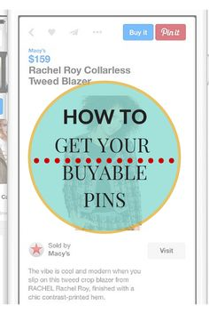 Make more sales by getting your Buyable Pins. The Buyable Pins is a new addition to the Rich Pins family that are free tools…Yeehaa! Click here to learn more and how to apply for Buyable  Pins! http://www.whiteglovesocialmedia.com/pinterest-marketing-expert-pinterest-unveils-its-buy-it-button/  | Pinterest for Business