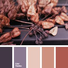 Cool gray-violet color is perfect for late autumn. Combine it with warm shades of brown and you will always feel comfortable on misty autumn days..