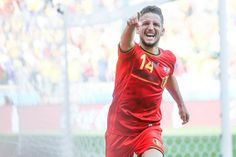 Dries Mertens after scoring 2-1 vs Algeria in Belgium's first game of the 2014 World Cup.