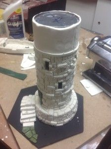 Pringles Tower: Part 3 Cries From The Attic Warhammer Terrain, Warhammer Art, Diy Arts And Crafts, Fun Crafts, Styrofoam Crafts, Pringles Can, Dice Tower, Fairytale Cottage, Fairy Crafts
