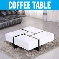 New Design Modern Designer High Gloss White Coffee Table 4 Hidden Drawers  In Home, Furniture U0026 DIY, Furniture, Tables