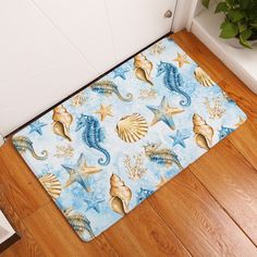 2017 new fashion creative rugs washable marine life carpet mats bedroom non slip floor mats rugs for living roomfloor - Floor Mats For Living Room