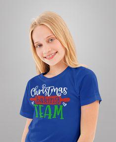 Kids Christmas T Shirt Christmas Baking Team Matching Xmas Shirts Cute Graphic Tee Baker Shirt Boys Girls Youth