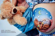 Belly paint  by Olga Meleca