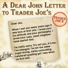 the natural health page dear john letter trader joe quotes like success
