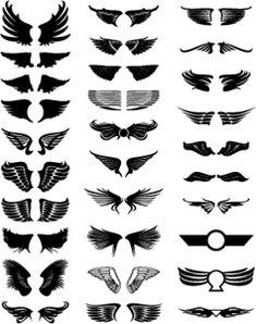 Full Sleeve Tattoo Design, Tribal Sleeve Tattoos, Tattoo Font Styles, Tattoo Designs, Corona Tattoo, Wings Logo, Wings Design, Celtic Tattoos, Free Graphics