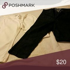Old Navy ankle length pants Black and white able length pants from Old Navy Old Navy Jeans Ankle & Cropped