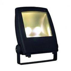 SLV LED FLOOD LIGHT 80W, schwarz, 3000K, 120°