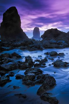 sundxwn:  Twilight at Cannon Beach by Rocco Mega