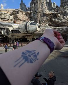 Star Wars tattoo — Millenium tattoo on day. Fandom Tattoos, Millenium Falcon, Subtle Tattoos, Semi Permanent Tattoo, Star Wars Tattoo, Disney Tattoos, Starwars, I Tattoo, Cuff Bracelets