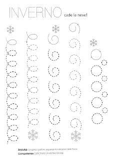 La maestra Linda: Inverno: pregrafismo Preschool Cutting Practice, Preschool Number Worksheets, Letter Tracing Worksheets, Preschool Writing, Tracing Letters, Preschool Classroom, Pre Writing, Writing A Book, Nursery Drawings