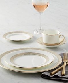 Vera Wang Wedgwood Gilded Weave Gold Dinnerware Collection   macys.com