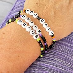 Boo Bash Disney Inspired Individual Beaded Bracelet | Etsy Stack Bracelets, Beaded Bracelets, Disney Inspired, Etsy, Stacking Bracelets, Pearl Bracelets, Seed Bead Bracelets, Pearl Bracelet