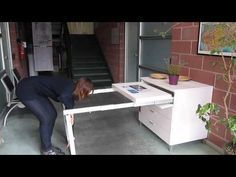 Pull Out Table Frame - With Legs - 1450 Series - YouTube