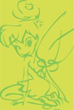Tinker Bell - this would look adorable on a running tank!