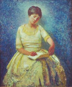 Gertrude Reading, oil on canvas © 2012 Carl Schmitt Foundation