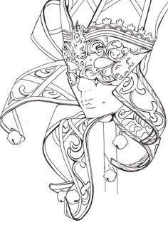 Mask Carnival Fantasy Coloring pages colouring adult detailed advanced printable Kleuren voor volwassenen coloriage pour adulte anti-stress kleurplaat voor volwassene