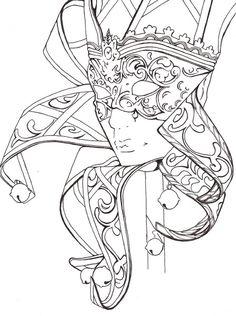 Mask Carnival Fantasy Coloring pages colouring adult detailed advanced printable Kleuren voor volwassenen coloriage pour adulte anti-stress kleurplaat voor volwassene