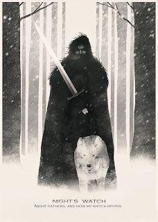 Knights Watch. Wolf & Sword. Dan Burgess Art