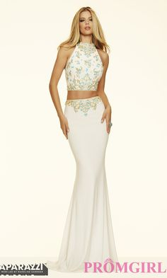 Two Piece Open Back Jersey Mori Lee Prom Dress $440.99 long prom