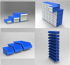 cajas plasticas para picking gaveteros modulares gavetas
