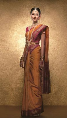 saree south indian bride