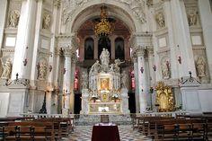 Altar of Basilica di Santa Maria della Salute in Venice, Italy.