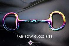 www.pegasebuzz.com | Equestrian Fashion : rainbow gloss horsebit by EvoEquine