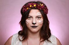 Pin for Later: Deer Makeup Halloween Costume Ideas You'll Want to Fawn Over Simple costume makeup