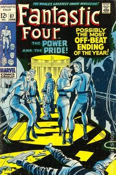 Fantastic Four (1961 1st Series) 87 Marvel Comics Modern Age Comic book covers Super Heroes Villians Sue Storm Reed Richards The Thing Human Torch Fantastic Four