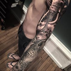 """1,494 Likes, 24 Comments - Dylan Weber (@dylanwebertattoos) on Instagram: """"Worked on @hayden_emery sleeve a bit more. One more session to finish. #Inkjecta nano machine…"""""""