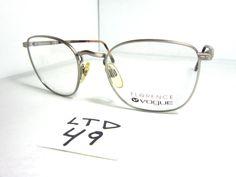 80f8e6df59 Vintage 80 90s FLORENCE VOGUE VO3101 Eyeglass FrameTortoise Silver (LTD-49)